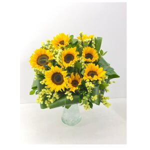 Sunflowers with vase